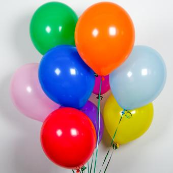 Шар (12/ 30 см) в ассорт. однотонные с гелием Все для детского праздника - Усатый Масич