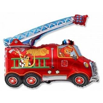 Шар Фигура, Пожарная машина Все для детского праздника - Усатый Масич