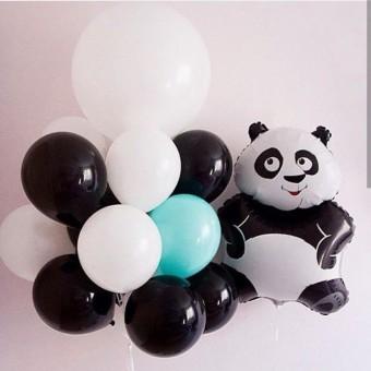 Композиция панда с большим шаром