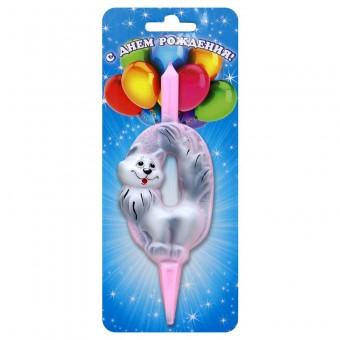 Свечи со зверями в ассорт Все для детского праздника - Усатый Масич