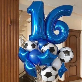 Композиция из шаров 16 лет