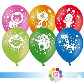 Шар воздушный С днем рождения Зверята Все для детского праздника - Усатый Масич