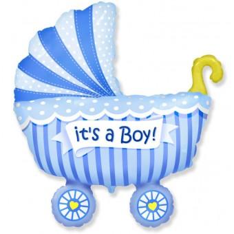 Шар-фигура,Коляска ,голубой Все для детского праздника - Усатый Масич