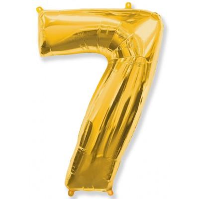 """Шар-цифра,Золото, """"7"""""""