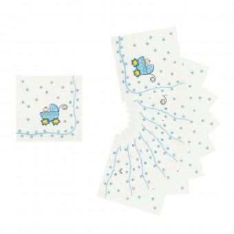 Салфетки бумажные Малыш в коляске Все для детского праздника - Усатый Масич