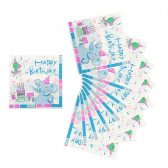 Салфетки бумажные День рождения Все для детского праздника - Усатый Масич