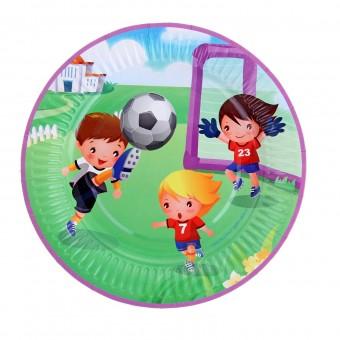 Тарелка с ламинацией Футбол Все для детского праздника - Усатый Масич