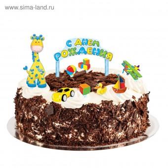 Набор для украшения торта С Днём Рождения,малыш! Все для детского праздника - Усатый Масич