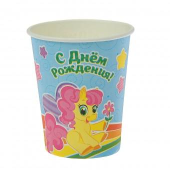 Стакан бумажный Маленькая пони Все для детского праздника - Усатый Масич