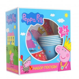 Набор бумажной посуды Пеппа-принцесса Все для детского праздника - Усатый Масич