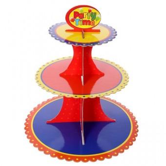 Подставка для пирожных трехъярусная Кружево Все для детского праздника - Усатый Масич