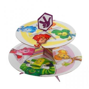 Подставка для пирожных двухъярусная Фиксики Все для детского праздника - Усатый Масич