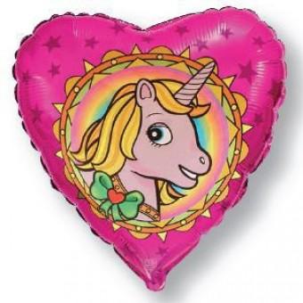 Шар -Сердце, Единорог, Красный Все для детского праздника - Усатый Масич