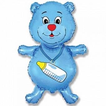 Шар - Фигура, Медвежонок-мальчик, Синий Все для детского праздника - Усатый Масич
