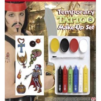Набор грим и тату Пират Все для детского праздника - Усатый Масич