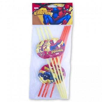 Трубочка для коктейля Marvel Человек-Паук Все для детского праздника - Усатый Масич