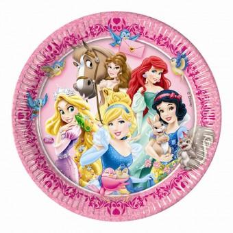 Тарелка Принцессы и животные Все для детского праздника - Усатый Масич