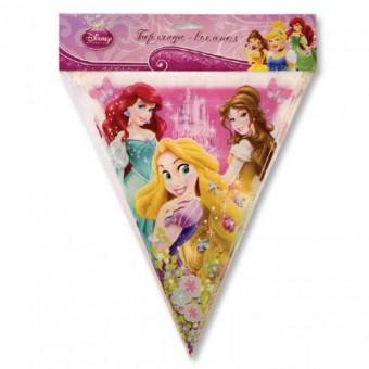 Гирлянда-вымпел Disney Принцессы Все для детского праздника - Усатый Масич